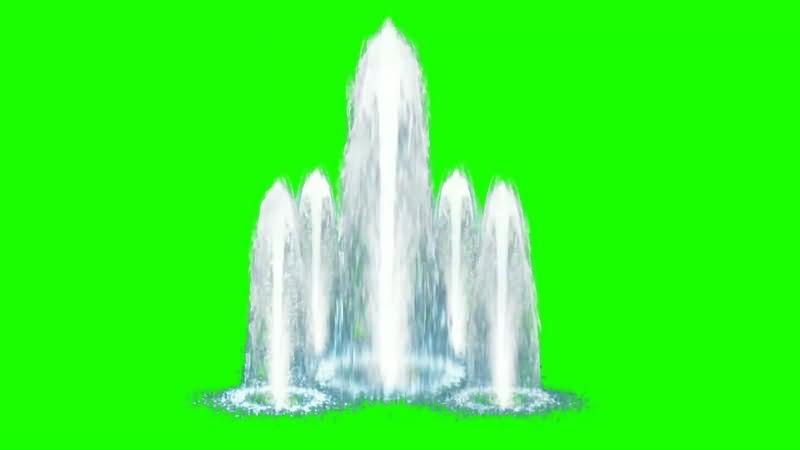 绿幕视频素材喷泉