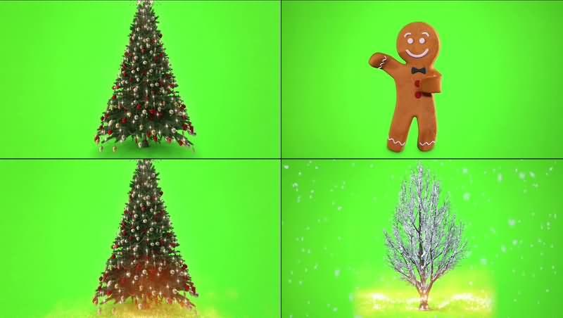 绿幕视频素材圣诞专题