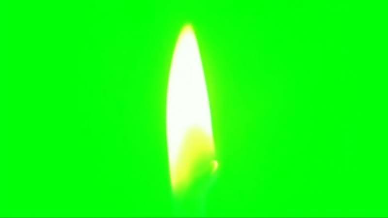 绿幕视频素材烛光火苗