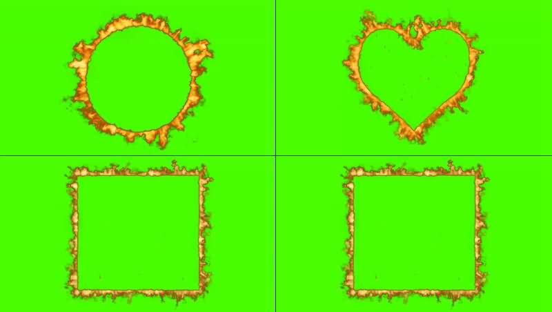 绿幕视频素材变形火环