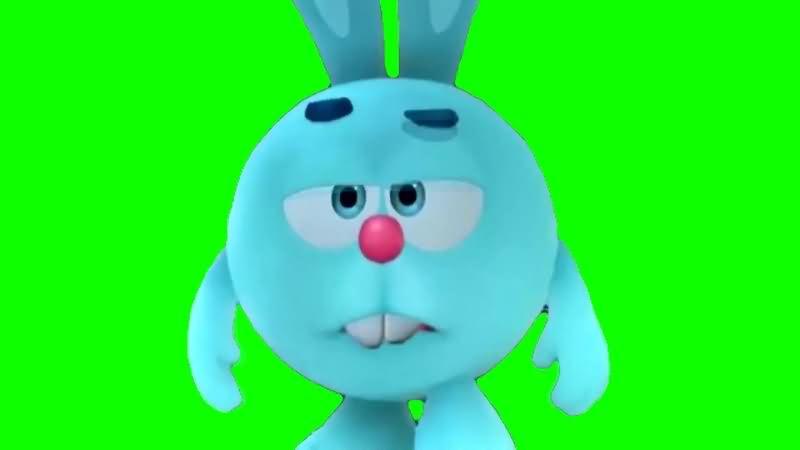 绿幕视频素材卡通兔子