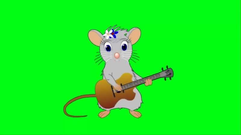 绿幕视频素材卡通鼠