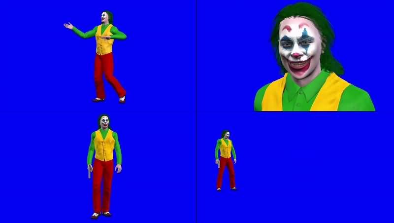绿幕视频素材小丑