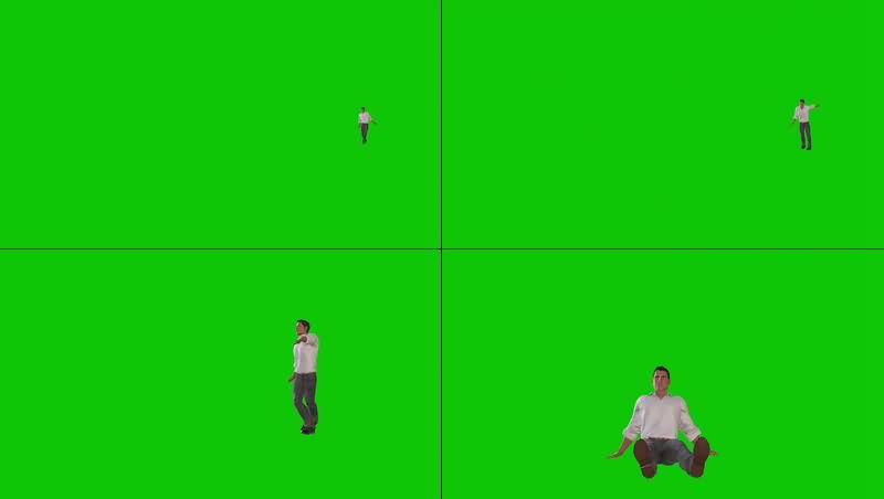 绿幕视频素材醉酒男