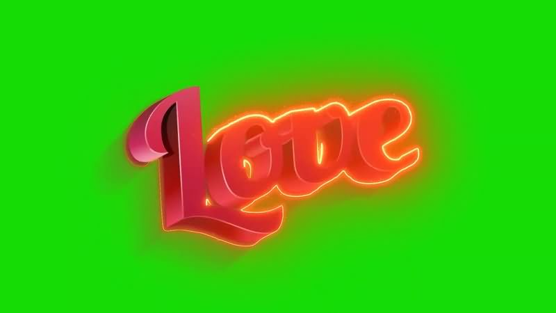 绿幕视频素材LOVE标志