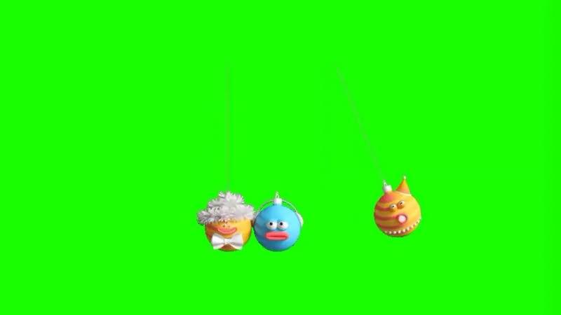 绿幕视频素材表情挂饰