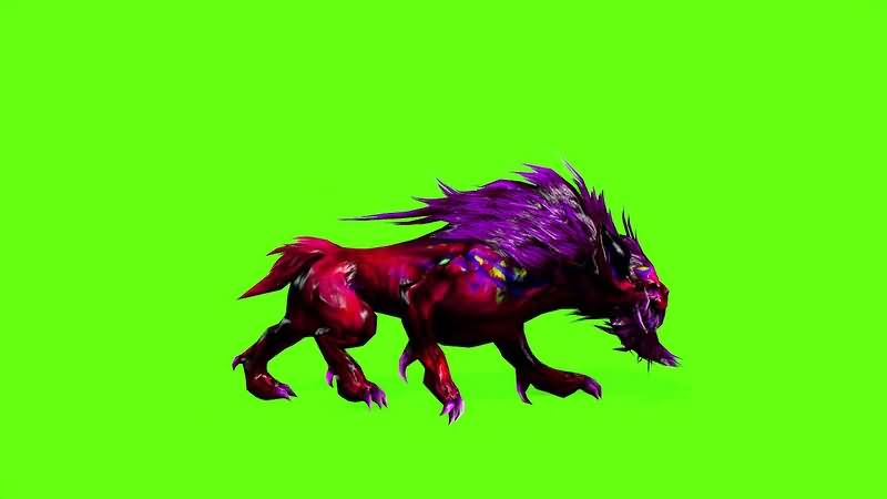 绿幕视频素材神兽