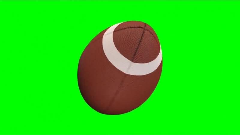 绿幕视频素材橄榄球