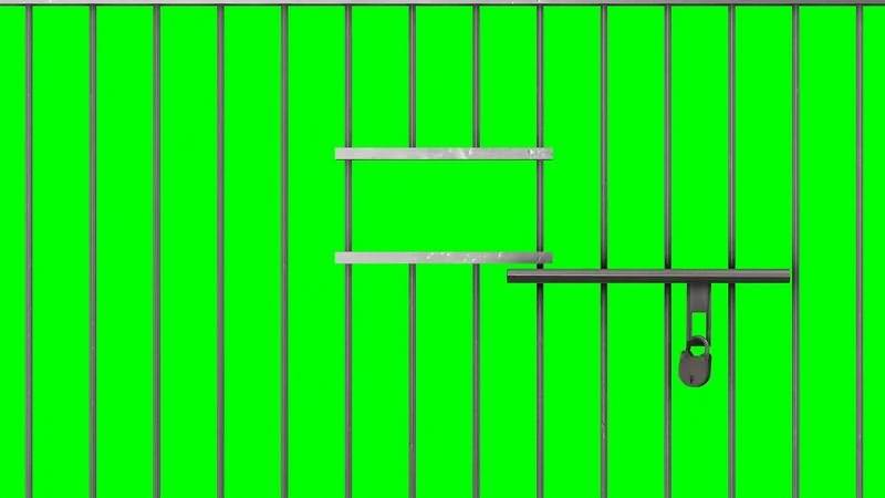 绿幕视频素材监狱铁门