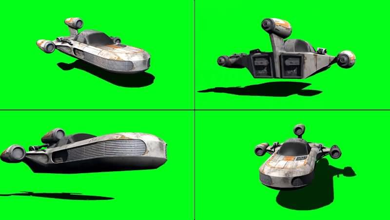 绿幕视频素材X-34陆行艇