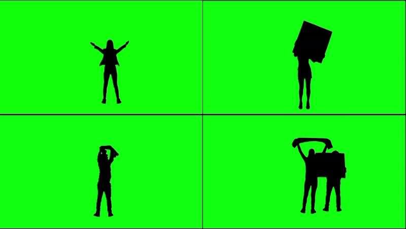 绿幕视频素材人物剪影