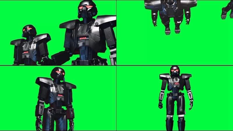 绿幕视频素材黑暗士兵