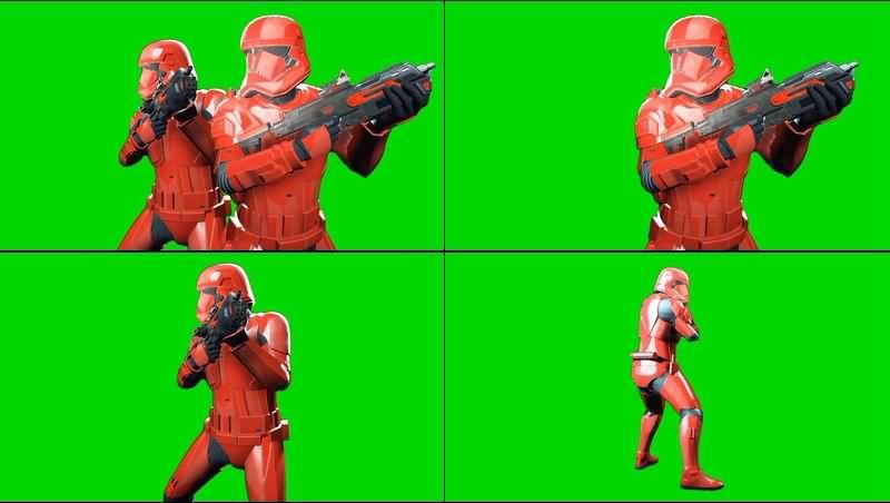 绿幕视频素材西斯士兵