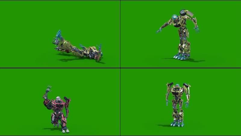 绿幕视频素材变形金刚