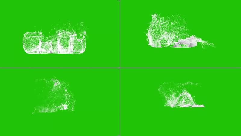 绿幕视频素材海洋泡沫