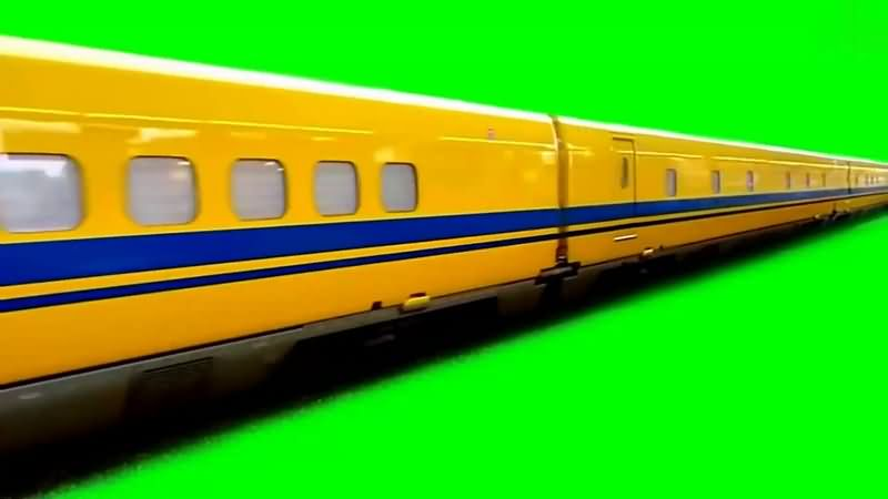 绿幕视频素材高铁
