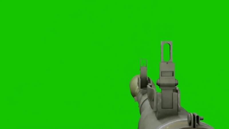 绿幕视频素材火箭筒