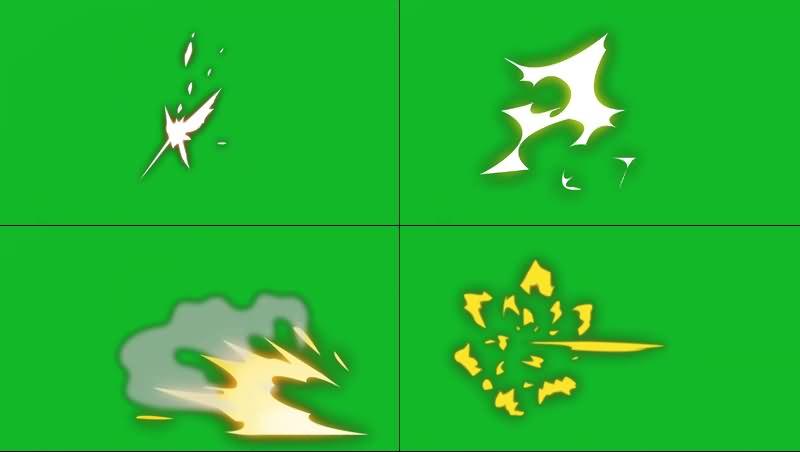 绿幕视频素材火花