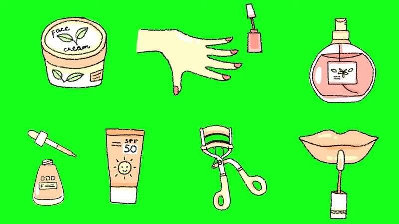绿幕视频素材化妆品