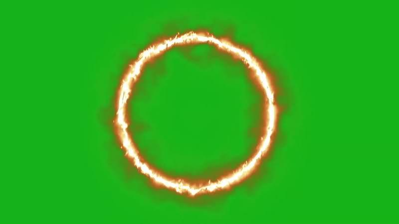 绿幕视频素材火环