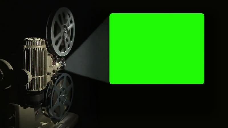 绿幕视频素材电影放映机