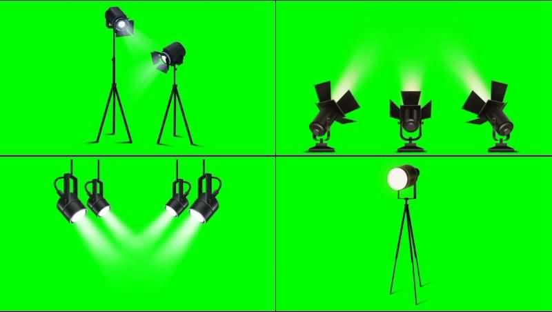 绿幕视频素材射灯