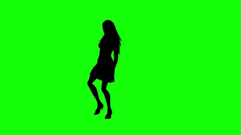 绿幕视频素材跳舞妹子