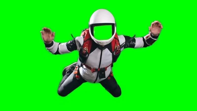 绿幕视频素材跳伞