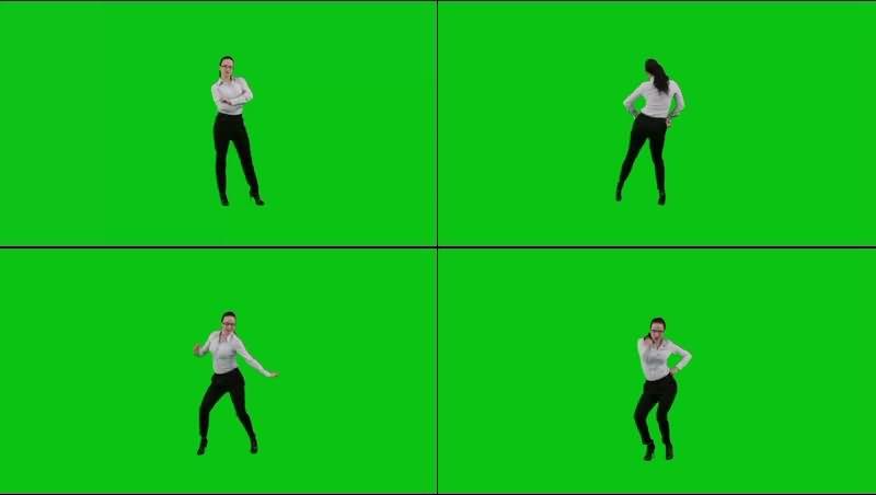 绿幕视频素材女职员