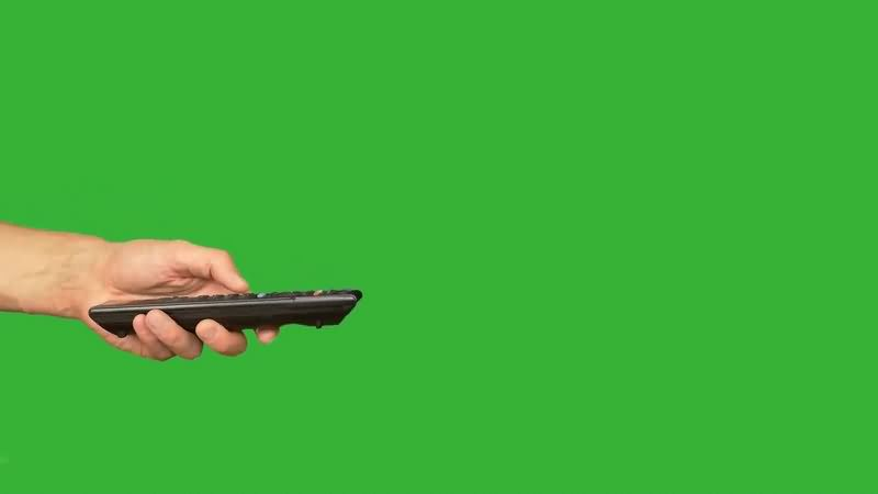 绿幕视频素材遥控器