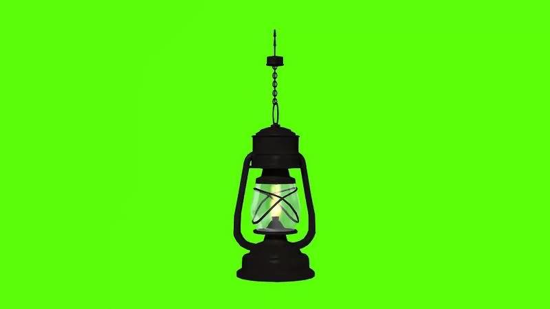 绿幕视频素材油灯