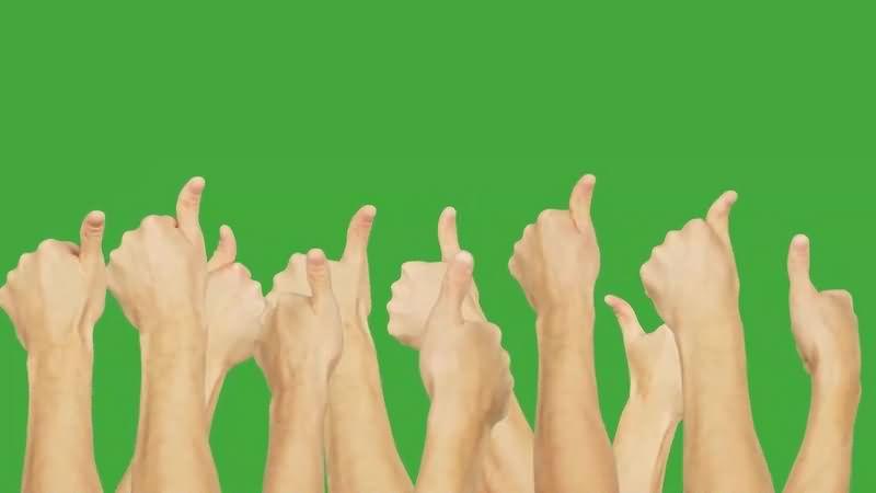 绿幕视频素材点赞