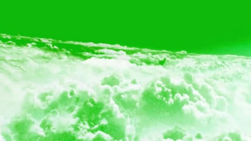 绿幕视频素材云层