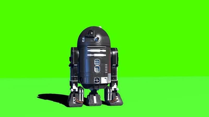 绿幕视频素材C2-B5机器人