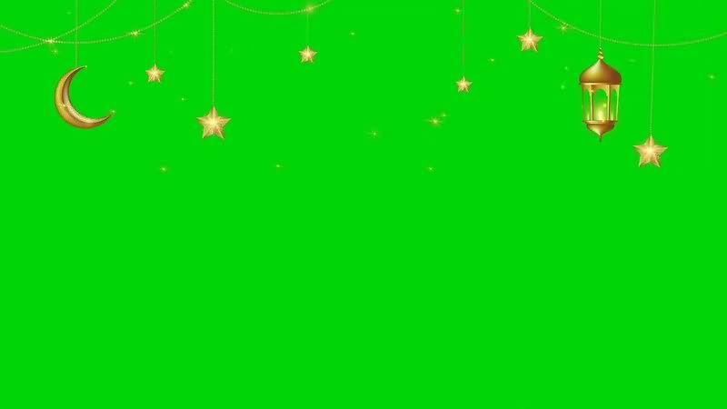 绿幕视频素材斋月灯