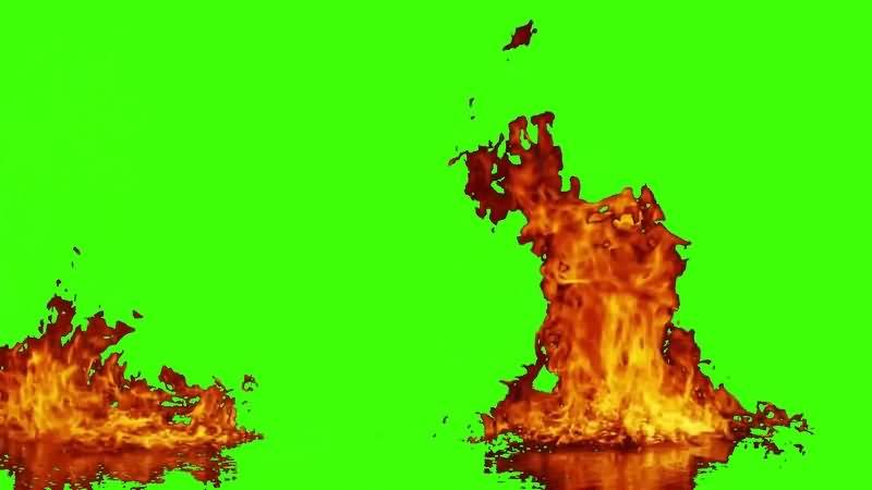 绿幕视频素材油火