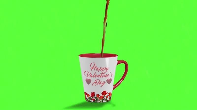 绿幕视频素材咖啡杯