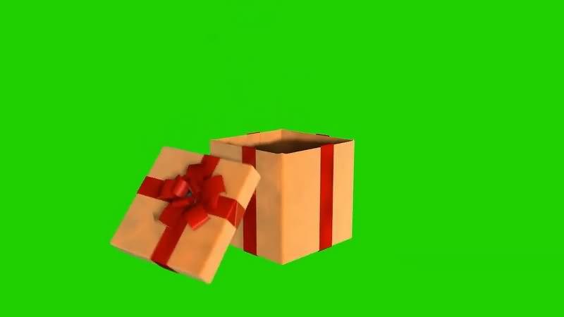 绿幕视频素材礼物盒