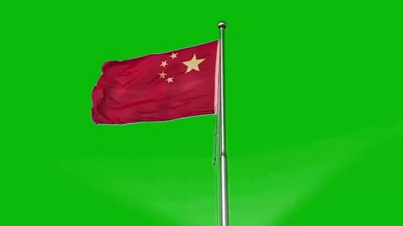 绿幕视频素材五星红旗