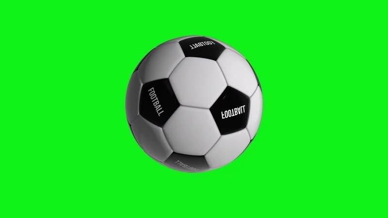 绿幕视频素材足球