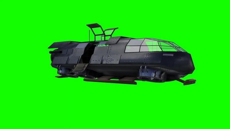 绿幕视频素材载人飞船