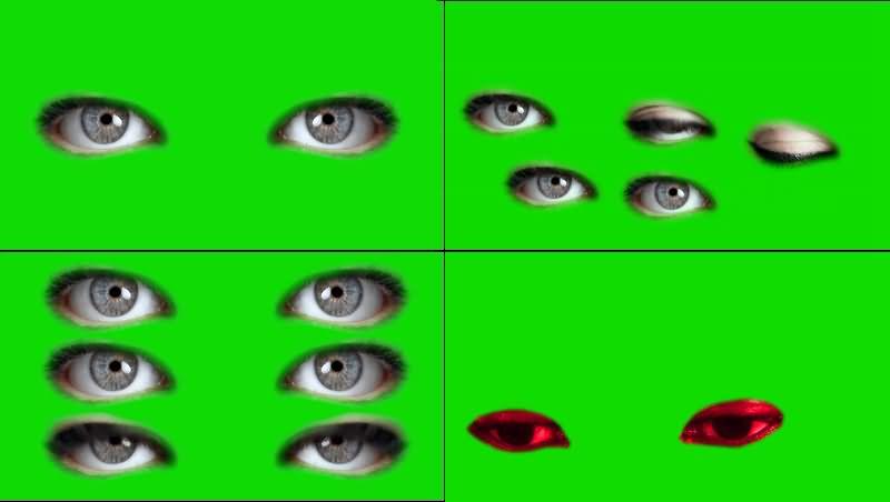绿幕视频素材眼睛