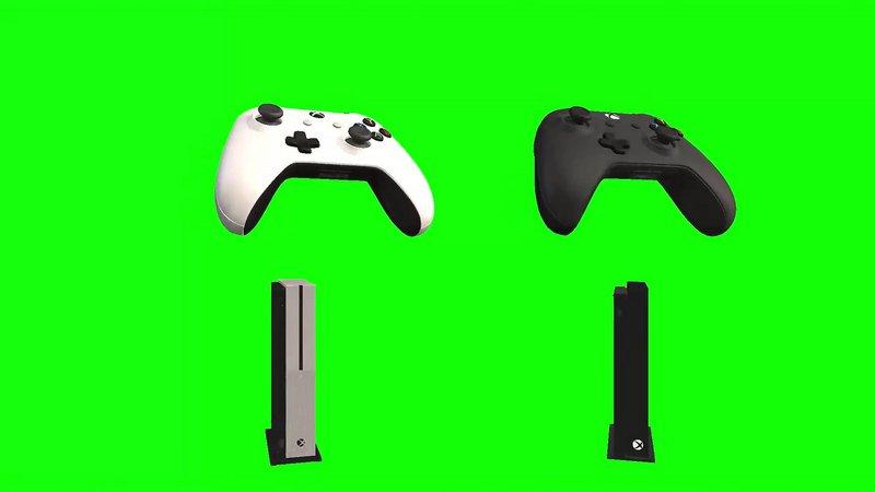 绿幕视频素材游戏机
