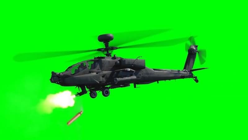 绿幕视频素材飞机射击