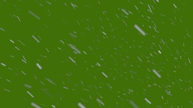 绿幕视频素材下雪