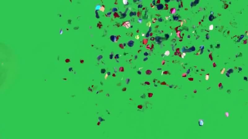 绿幕视频素材彩色纸片