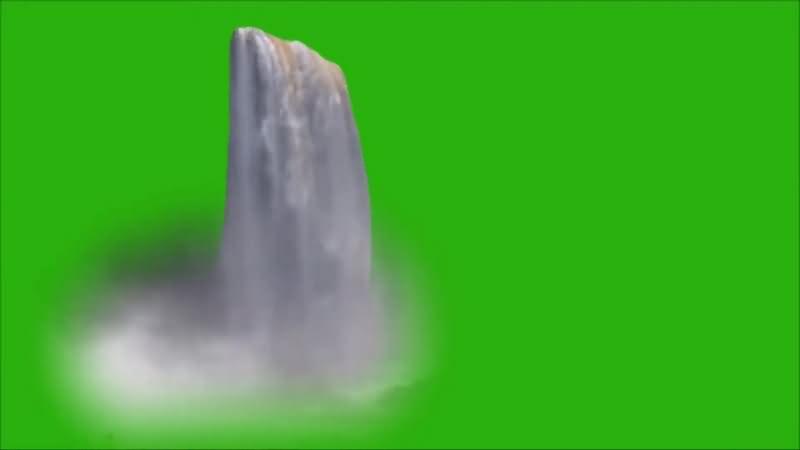 绿幕视频素材大瀑布