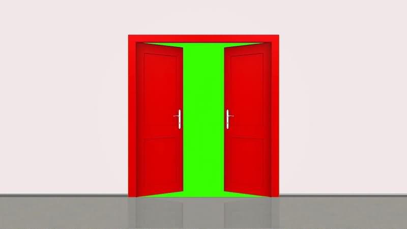 绿幕视频素材开门