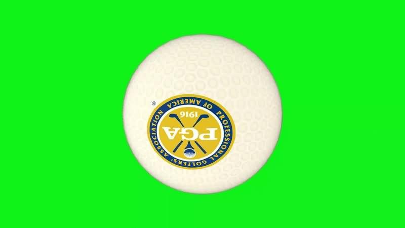 绿幕视频素材高尔夫球