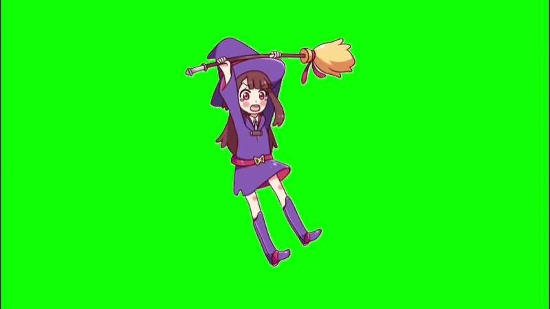 绿幕视频素材女巫